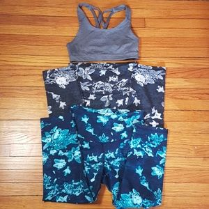 Old Navy 5 peices gym leggings and tops SZ S